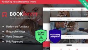 Booklovers – Uitgeverij House & Book WordPress Theme