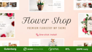 Flower Shop – Bloemist Boutique & Decoration Store WordPress Theme