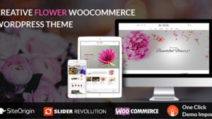 Creative Flower Woocommerce WordPress Theme